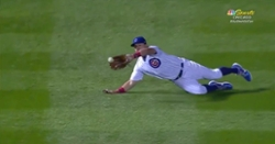 WATCH: Kyle Schwarber lays out for athletic diving grab