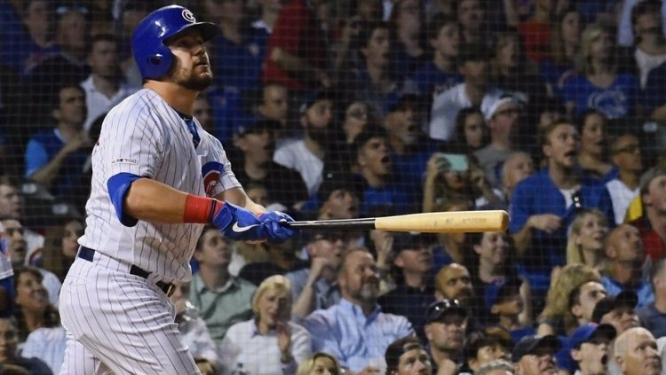 Kyle Schwarber hammered a 467-foot moonshot for his longest home run of the season thus far. (Credit: Matt Marton-USA TODAY Sports)