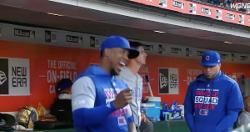WATCH: Pedro Strop inexplicably dances in dugout between innings