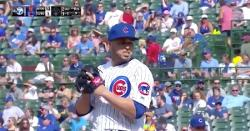 WATCH: Victor Caratini pitches ninth inning, makes epic jump throw