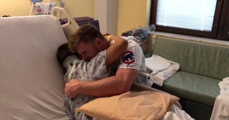 Chicago Cubs relief pitcher Rowan Wick had the chance to meet Anthony, his biggest fan, at Advocate Children's Hospital.
