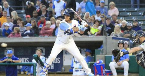 D.J. Wilson homers for the third time in four games (Photo Credit: MB Pelicans)