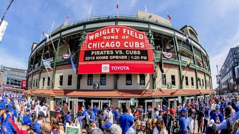 According to Caesars Palace, the Chicago Cubs' odds of winning the World Series are +900. (Credit: Patrick Gorski-USA TODAY Sports)