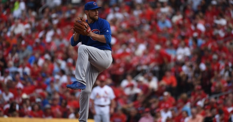 38-year-old Ben Zobrist made his big-league pitching debut on Sunday and served as the final pitcher of the Cubs' 2019 season. (Credit: @Cubs on Twitter)
