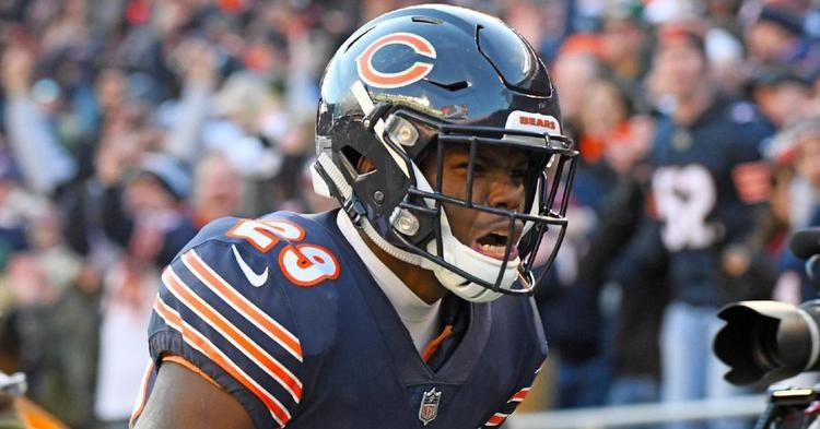 Chicago Bears playmaker was carted to the locker room after suffering a knee injury while making a fair catch. (Credit: Mike Dinovo-USA TODAY Sports)