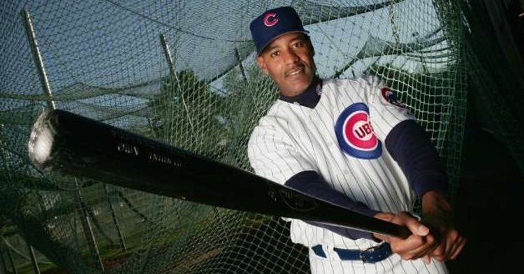 Echevarria in Cubs spring training in 2005 (Photo Credit: Jed Jacobsohn)