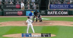 WATCH: Javier Baez bats left-handed, hits double to wall in right-center