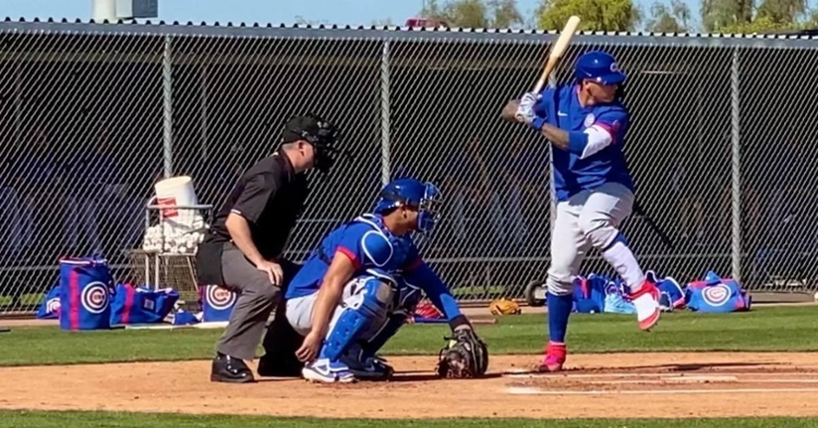 WATCH: Javy Baez smacks RBI double, Ross cheering on Schwarber to score