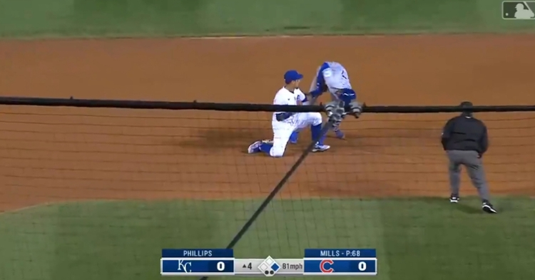Javier Baez did not even look at Adalberto Mondesi until after he tagged him out.