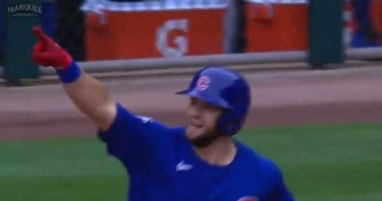 WATCH: David Bote smacks his 7th homer of season