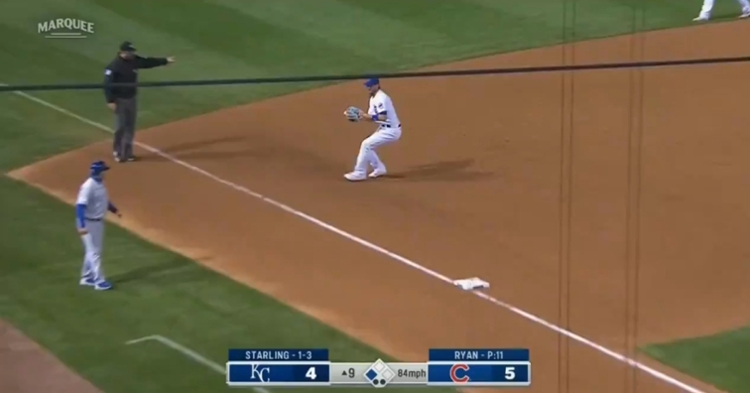 Kris Bryant showed off his athleticism by laying out for a stellar diving stop on the final play of Tuesday's game.