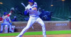 WATCH: Kris Bryant gets hit by pitch, scores on RBI triple by Javier Baez