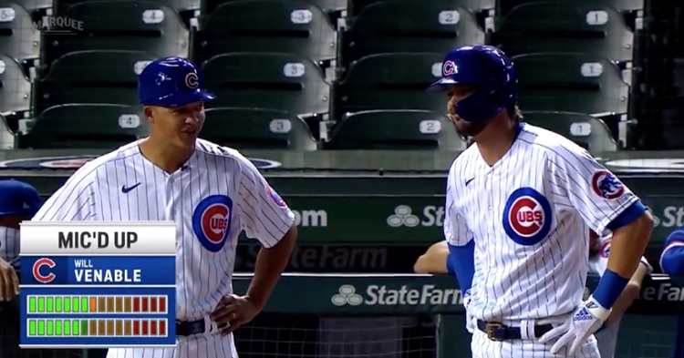 Cubs third-base coach Will Venable was mic'd up for the Marquee Network of Friday's game.