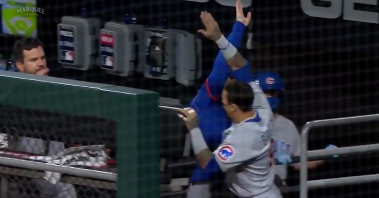 There were high-fives aplenty in the Cubs' dugout after the team learned it won the National League Central.