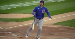 WATCH: Willson Contreras does epic bat flip after crushing three-run dinger