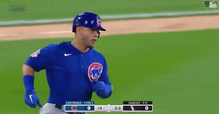 Willson Contreras' second long ball of the game served as his seventh home run and 26th RBI of the season.