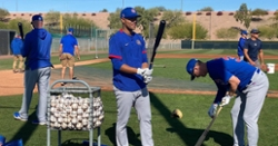 WATCH: Lester, Hendricks, Quintana, Chatwood hitting at batting practice