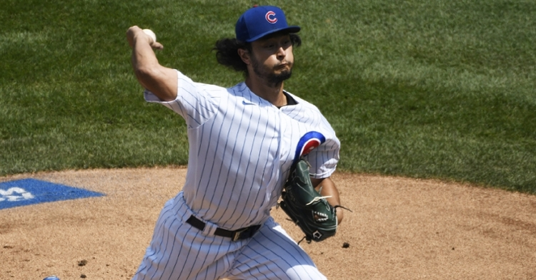 Cubs ace Yu Darvish fanned 10 White Sox batters in a winning start on Sunday. (Credit: David Banks-USA TODAY Sports)