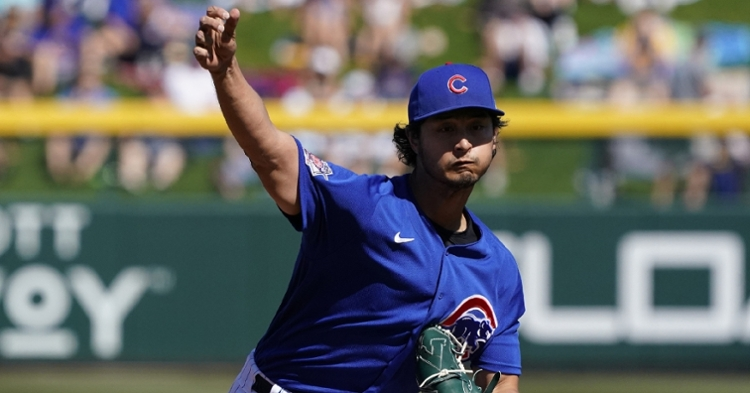 Darvish will start the game weather permitting (Rick Scuteri - USA Today Sports)