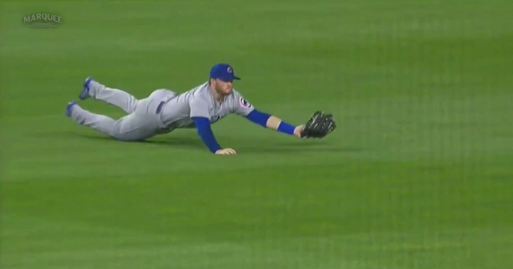 Ian Happ went all out on a diving catch, and it paid off, as the Pirates were unable to plate the tying run.