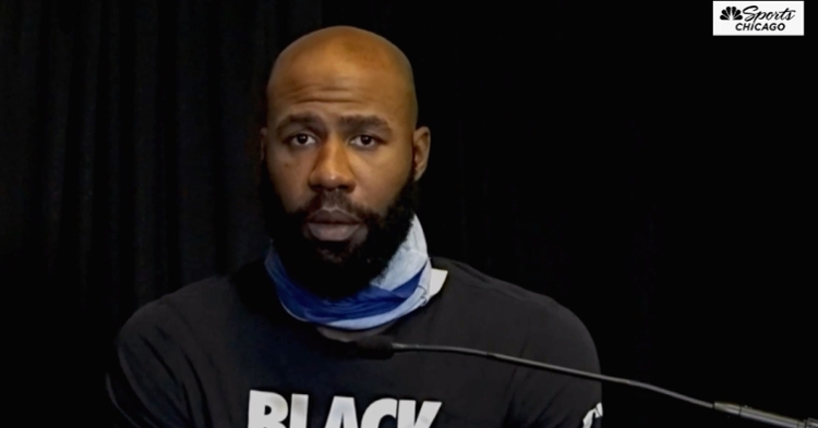 "While donning a ""Black Lives Matter"" T-shirt, Jason Heyward spoke on Jackie Robinson's legacy."