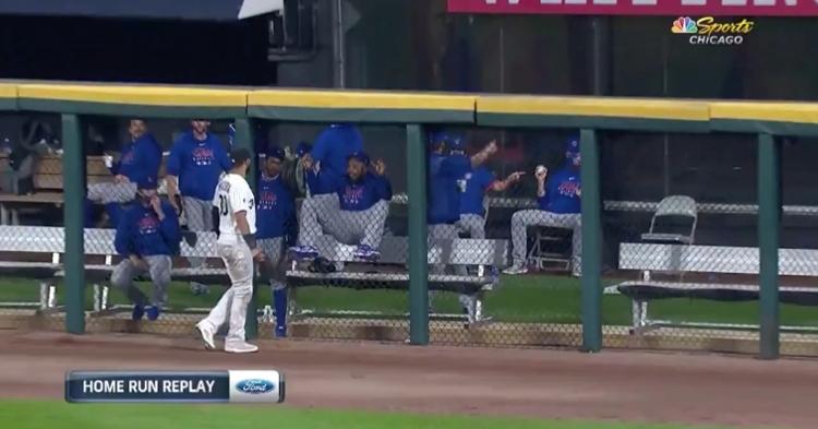 Cubs closer Jeremy Jeffress had some fun at his former teammate Nomar Mazara's expense.