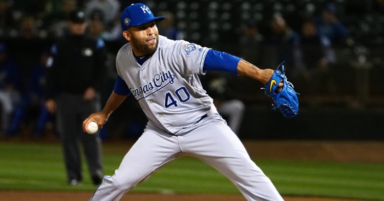 Veteran reliever Kelvin Herrera was signed by the Cubs to a minor league deal on Thursday. (Credit: Kelley L. Cox-USA TODAY Sports)