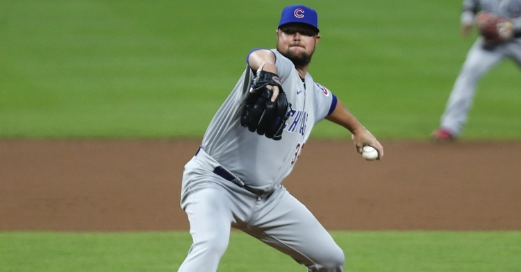 In a solid start cut short due to a pitch count, Cubs ace Jon Lester pitched five hitless, scoreless innings. (Credit: David Kohl-USA TODAY Sports)