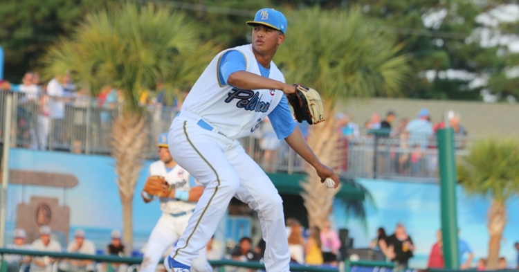 Marquez is an elite pitching prospect (Photo credit: Myrtle Beach Pelicans)