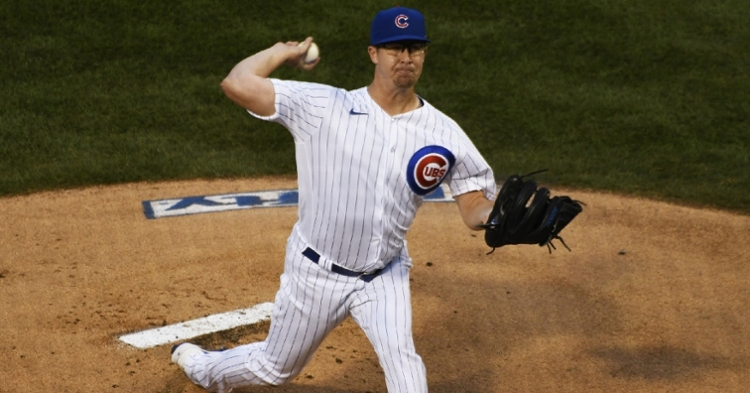 Cubs righty Alec Mills tossed a seven-inning gem against the Royals. (Credit: David Banks-USA TODAY Sports)
