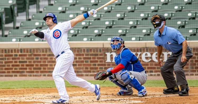 Josh Phegley was assigned to the Cubs' South Bend, Ind., site, along with Ian Miller. (Credit: Patrick Gorski-USA TODAY Sports)
