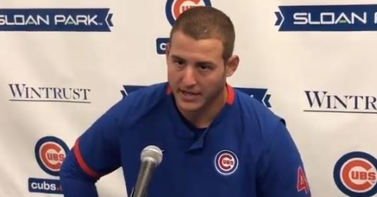 Anthony Rizzo doesn't want to play baseball to a empty stadium if possible