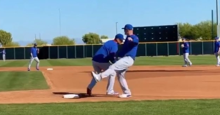 Ross should some quick reflexes to dodge the baseball