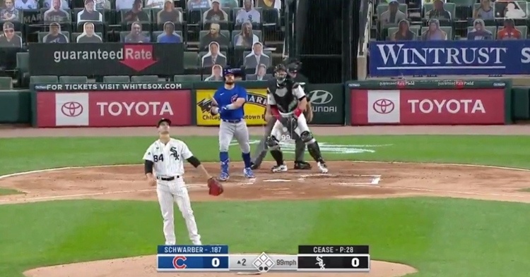 "Cubs slugger Kyle Schwarber went ""oppo"" with a go-ahead solo shot at Guaranteed Rate Field."