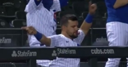 WATCH: Kyle Schwarber shows off his dance moves after Contreras homer