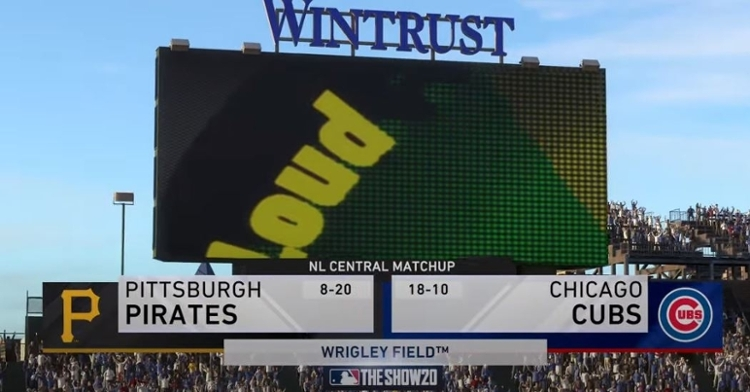 WATCH: Cubs vs. Pirates simulation of MLB The Show 20