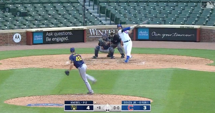 Steven Souza Jr. hit a clutch two-out home run to tie up the Brewers in the eighth inning.