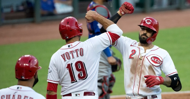 Nicholas Castellanos provided the Reds with a substantial lead by way of a fifth-inning grand slam. (Credit: Albert Cesare-USA TODAY Sports)