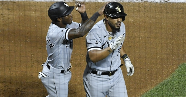 Power-hitting first baseman Jose Abreu (right) slugged two of the six home runs hit by the White Sox. (Credit: Quinn Harris-USA TODAY Sports)