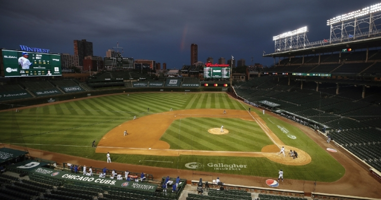 Cubs-Pirates playing in an empty Wrigley (Kamil Krzaczynski - USA Today Sports)