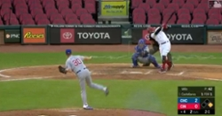 WATCH: Nicholas Castellanos goes yard against Cubs for his first homer with Reds