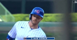 WATCH: Ian Happ smashes 422-foot blast for Cubs' first home run of season