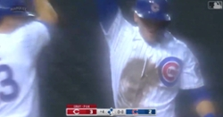 WATCH: Cubs manufacture five-run inning in pouring rain, take lead over Reds