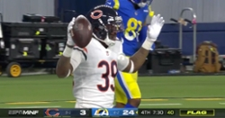 WATCH: Eddie Jackson recovers fumble, returns it for scoop-and-score touchdown