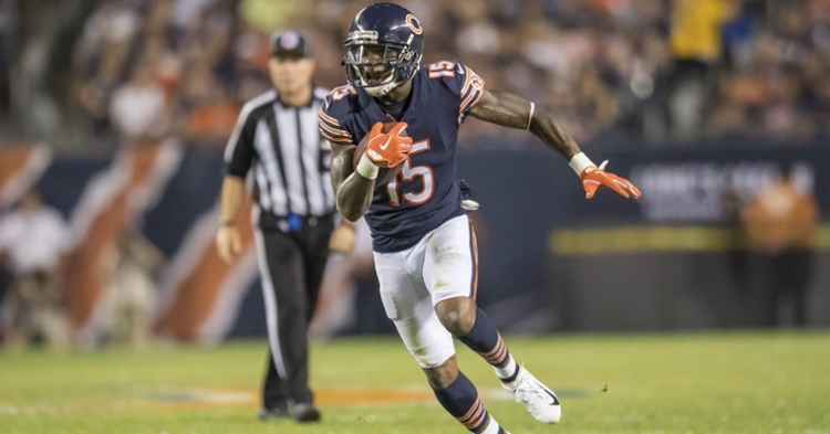 Former Chicago Bears wideout Josh Bellamy was arrested for his alleged involvement in a $24 million scheme. (Credit: Patrick Gorski-USA TODAY Sports)