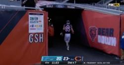WATCH: Cole Kmet scores on 11-yard reception, runs up tunnel