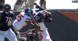 WATCH: David Montgomery suffers neck injury, leaves game