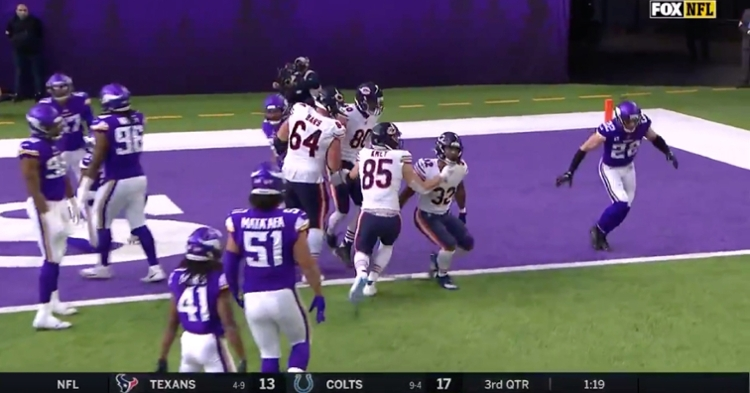 Bears running back David Montgomery came through with an impressive 14-yard touchdown run.