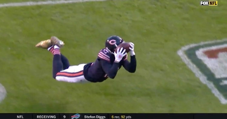 Bears wide receiver Allen Robinson went all out for his third touchdown catch of the season.