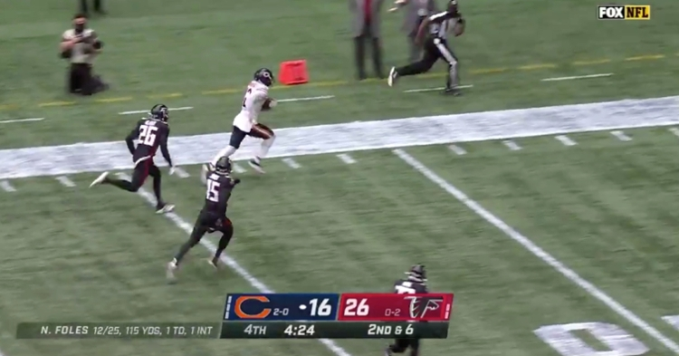 Chicago Bears wide receiver Allen Robinson broke free and scored a fourth-quarter touchdown.